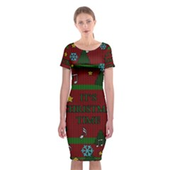 Ugly Christmas Sweater Classic Short Sleeve Midi Dress