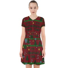 Ugly Christmas Sweater Adorable In Chiffon Dress