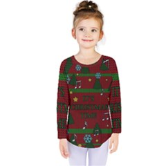 Ugly Christmas Sweater Kids  Long Sleeve Tee