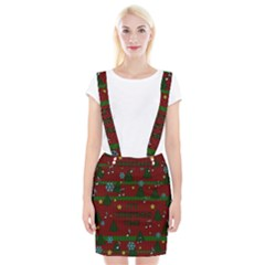 Ugly Christmas Sweater Braces Suspender Skirt