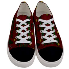 Ugly Christmas Sweater Women s Low Top Canvas Sneakers