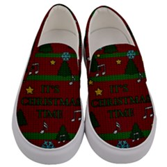 Ugly Christmas Sweater Men s Canvas Slip Ons