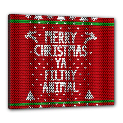 Ugly Christmas Sweater Canvas 24  X 20