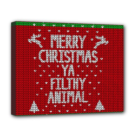Ugly Christmas Sweater Deluxe Canvas 20  X 16