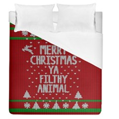Ugly Christmas Sweater Duvet Cover (queen Size)