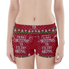 Ugly Christmas Sweater Boyleg Bikini Wrap Bottoms