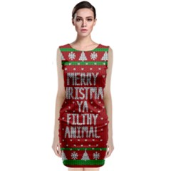 Ugly Christmas Sweater Classic Sleeveless Midi Dress