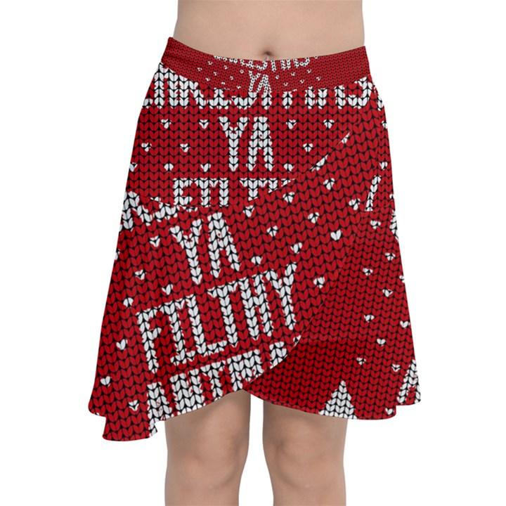 Ugly Christmas Sweater Chiffon Wrap