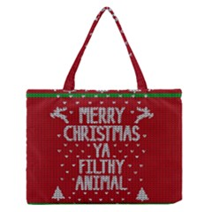 Ugly Christmas Sweater Zipper Medium Tote Bag