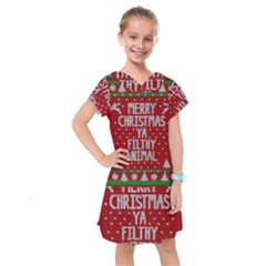 Ugly Christmas Sweater Kids  Drop Waist Dress