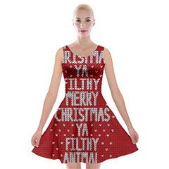 Ugly Christmas Sweater Velvet Skater Dress