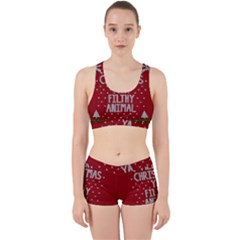 Ugly Christmas Sweater Work It Out Sports Bra Set