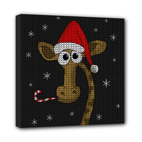Christmas Giraffe  Mini Canvas 8  X 8