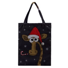 Christmas Giraffe  Classic Tote Bag