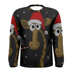 Christmas Giraffe  Men s Long Sleeve Tee