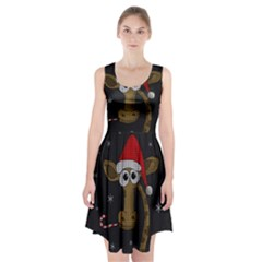 Christmas Giraffe  Racerback Midi Dress