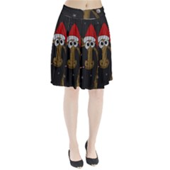 Christmas Giraffe  Pleated Skirt