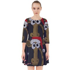 Christmas Giraffe  Smock Dress