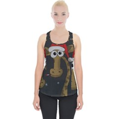 Christmas Giraffe  Piece Up Tank Top