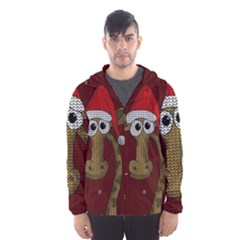 Christmas Giraffe  Hooded Wind Breaker (men)