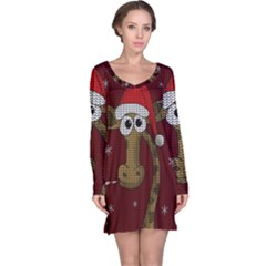 Christmas Giraffe  Long Sleeve Nightdress