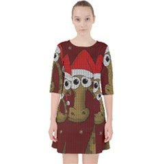 Christmas Giraffe  Pocket Dress