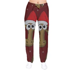 Christmas Giraffe  Drawstring Pants