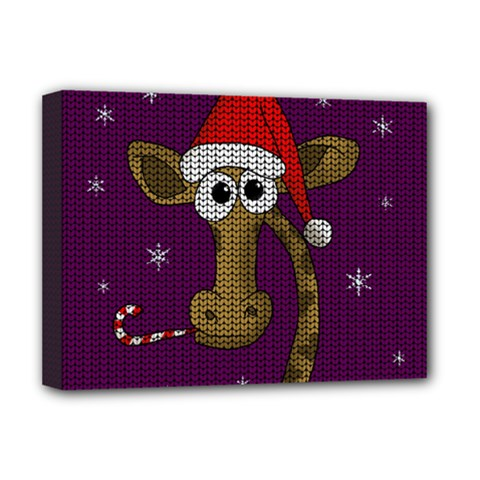 Christmas Giraffe  Deluxe Canvas 16  X 12