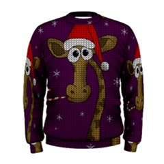 Christmas Giraffe  Men s Sweatshirt