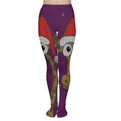 Christmas Giraffe  Women s Tights
