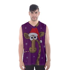 Christmas Giraffe  Men s Basketball Tank Top