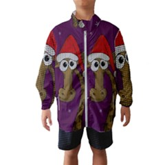 Christmas Giraffe  Wind Breaker (kids)