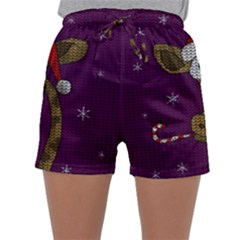 Christmas Giraffe  Sleepwear Shorts