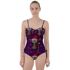 Christmas Giraffe  Sweetheart Tankini Set