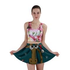 Christmas Giraffe  Mini Skirt