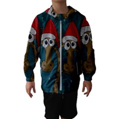 Christmas Giraffe  Hooded Wind Breaker (kids)
