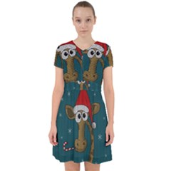 Christmas Giraffe  Adorable In Chiffon Dress