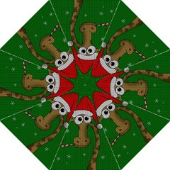 Christmas Giraffe  Folding Umbrellas