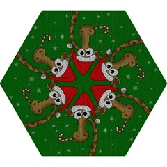 Christmas Giraffe  Mini Folding Umbrellas