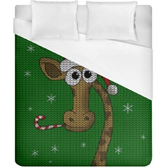 Christmas Giraffe  Duvet Cover (california King Size)