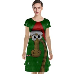 Christmas Giraffe  Cap Sleeve Nightdress