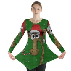 Christmas Giraffe  Long Sleeve Tunic
