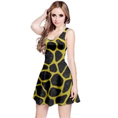 Skin1 Black Marble & Yellow Leather Reversible Sleeveless Dress