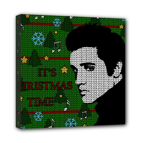 Elvis Presley   Christmas Mini Canvas 8  X 8