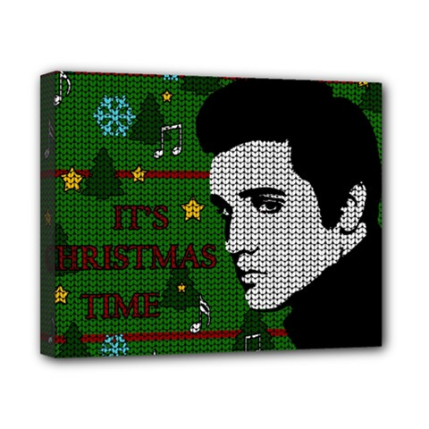 Elvis Presley   Christmas Canvas 10  X 8