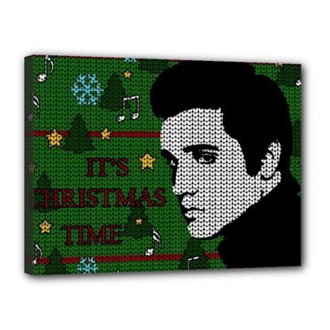 Elvis Presley   Christmas Canvas 16  X 12
