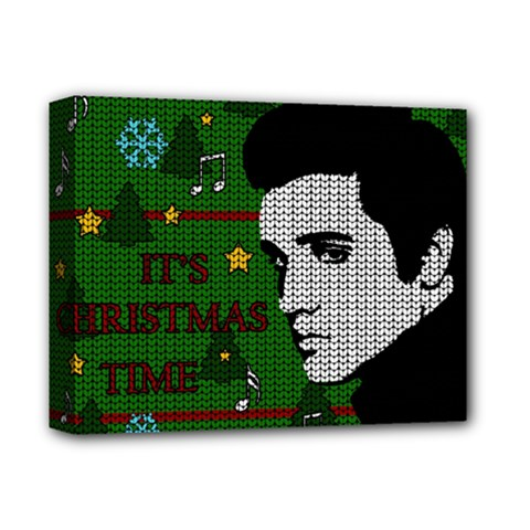 Elvis Presley   Christmas Deluxe Canvas 14  X 11