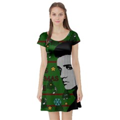 Elvis Presley   Christmas Short Sleeve Skater Dress