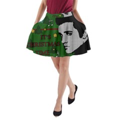 Elvis Presley   Christmas A Line Pocket Skirt