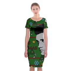 Elvis Presley   Christmas Classic Short Sleeve Midi Dress